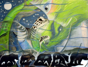 Stone Woman & TurtleDream No. 2Available as archival quality giclee print through Turtle Mountain Mythic Art.