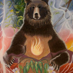"K326-G - Standing Bear 16 x 17"" Archival Quality Giclee Print: $675"