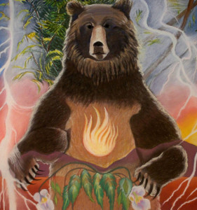 """K326-G - """"Standing Bear""""16 x 17"""" Archival Quality Giclee Print: $475 matted; $675 framed"""
